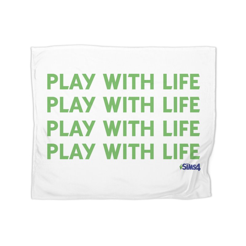 Play With Life Green Repeating in Green Home Fleece Blanket Blanket by The Sims Official Threadless Store