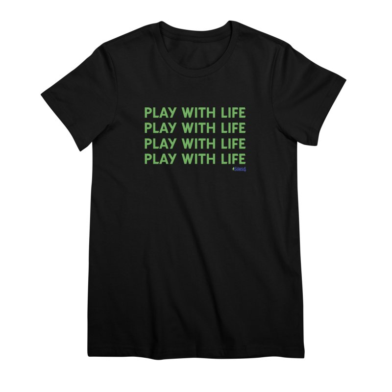 Play With Life Green Repeating in Green Women's Premium T-Shirt by The Sims Official Threadless Store