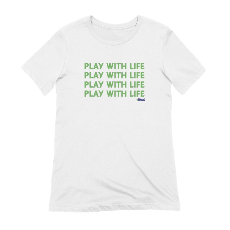 Play With Life Green Repeating in Green Women's Extra Soft T-Shirt by The Sims Official Threadless Store