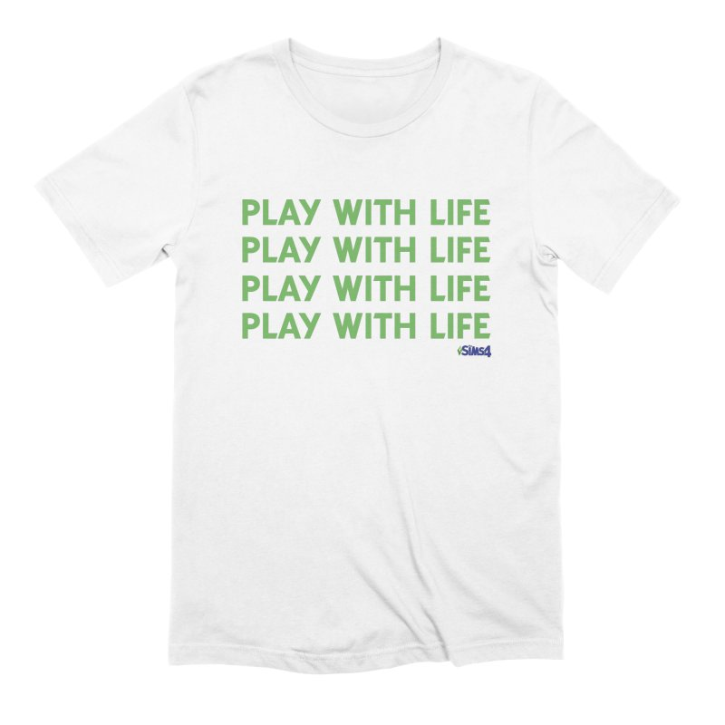 Play With Life Green Repeating in Green Men's Extra Soft T-Shirt by The Sims Official Threadless Store