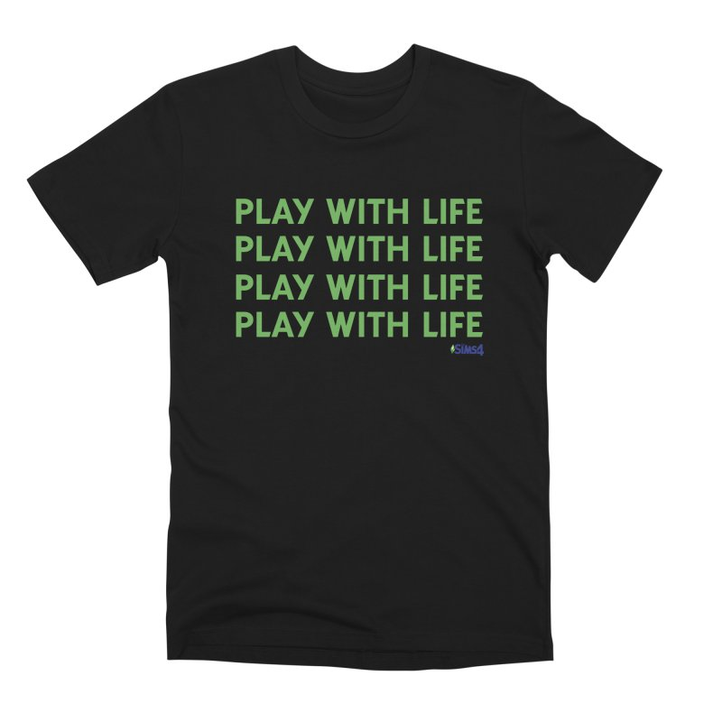 Play With Life Green Repeating in Green Men's Premium T-Shirt by The Sims Official Threadless Store