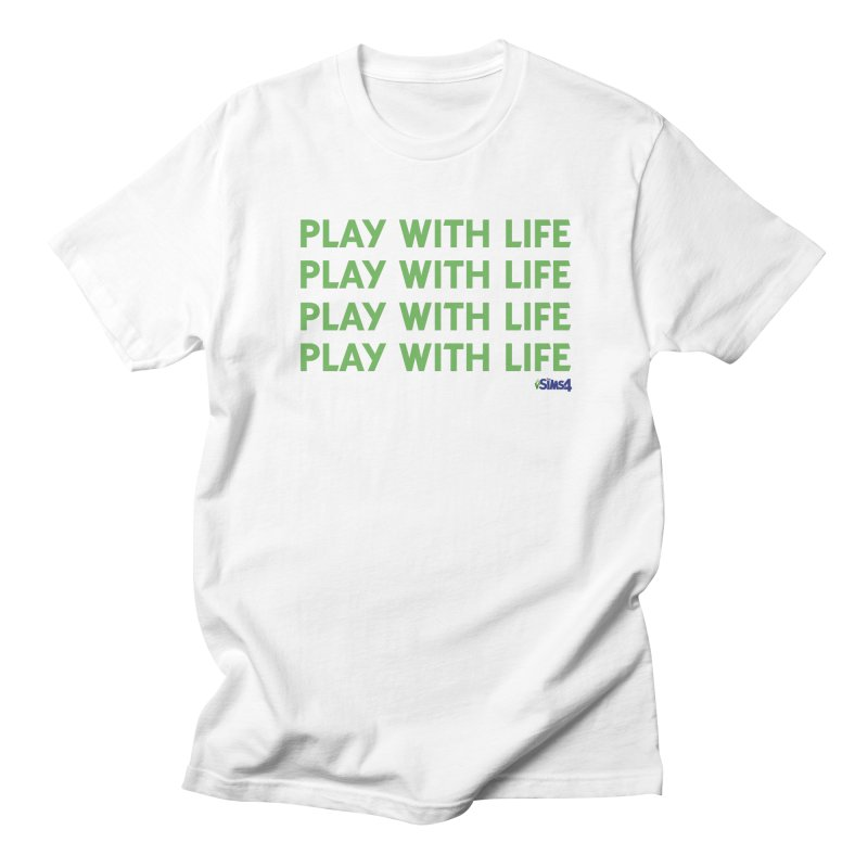Play With Life Green Repeating in Green Women's Regular Unisex T-Shirt by The Sims Official Threadless Store
