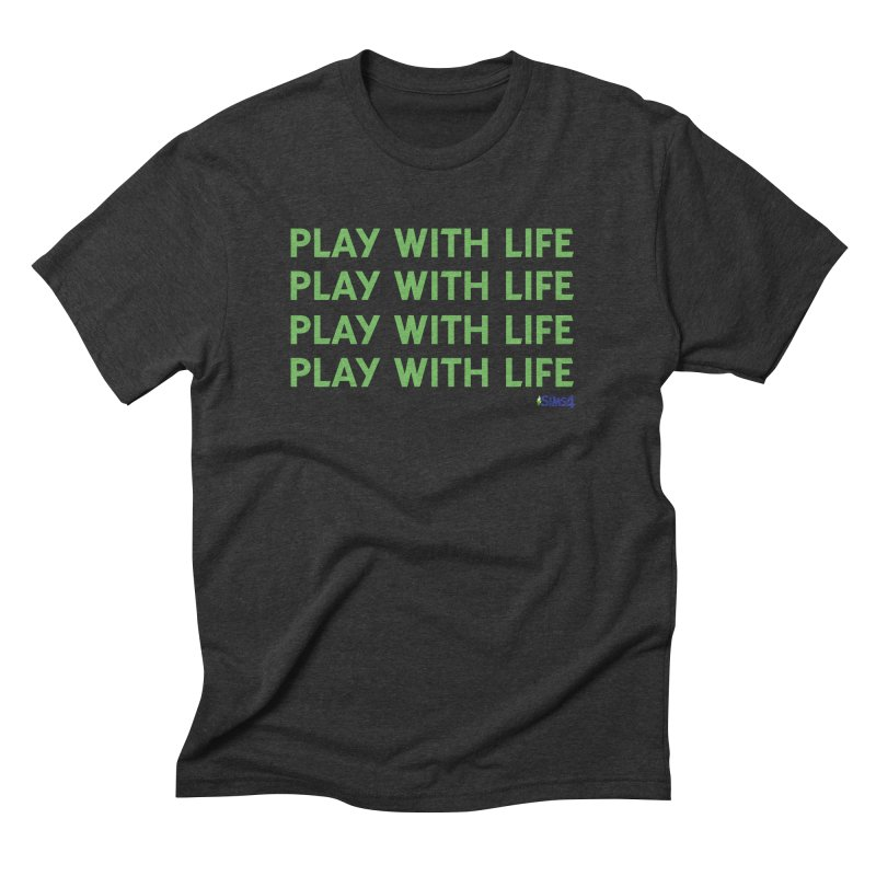 Play With Life Green Repeating in Green Men's Triblend T-Shirt by The Sims Official Threadless Store