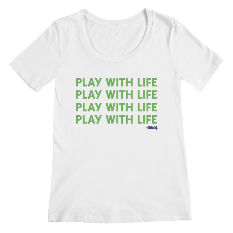 Play With Life Green Repeating in Green Women's Regular Scoop Neck by The Sims Official Threadless Store