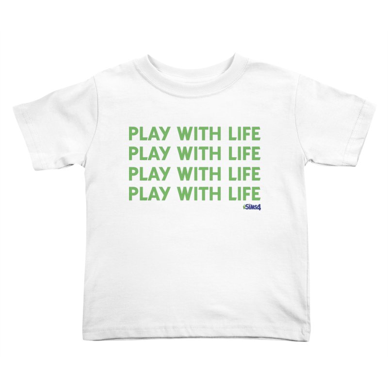Play With Life Green Repeating in Green Kids Toddler T-Shirt by The Sims Official Threadless Store