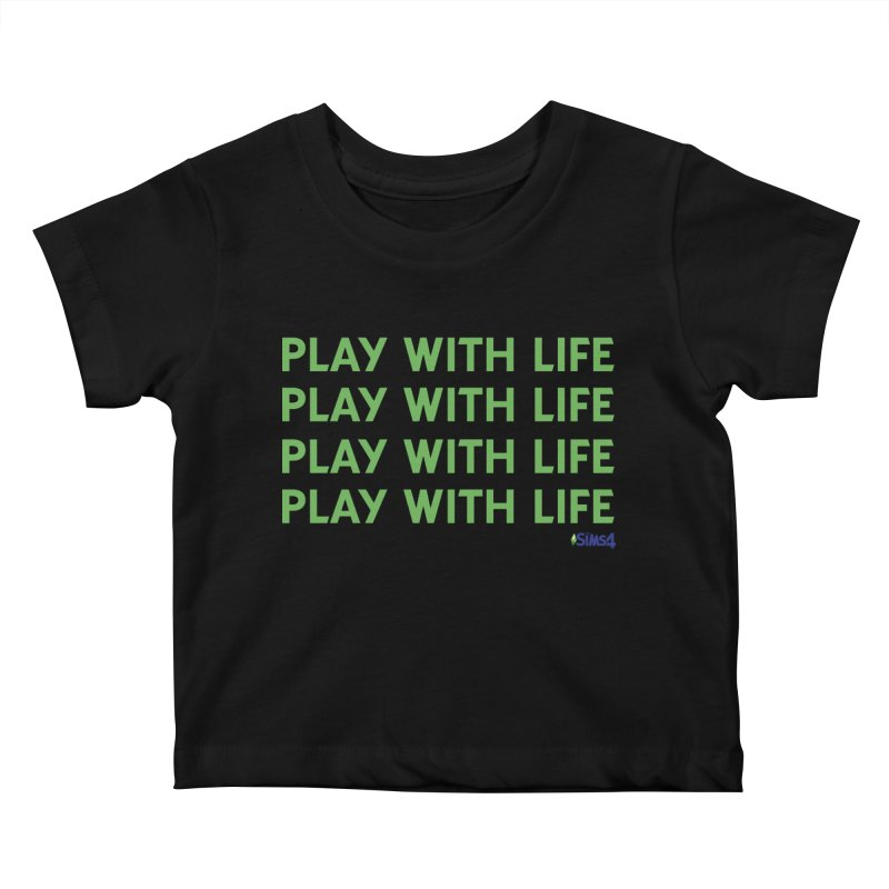 Play With Life Green Repeating in Green Kids Baby T-Shirt by The Sims Official Threadless Store