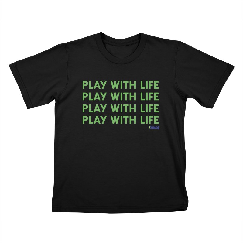 Play With Life Green Repeating in Green Kids T-Shirt by The Sims Official Threadless Store