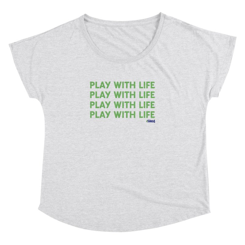 Play With Life Green Repeating in Green Women's Dolman Scoop Neck by The Sims Official Threadless Store
