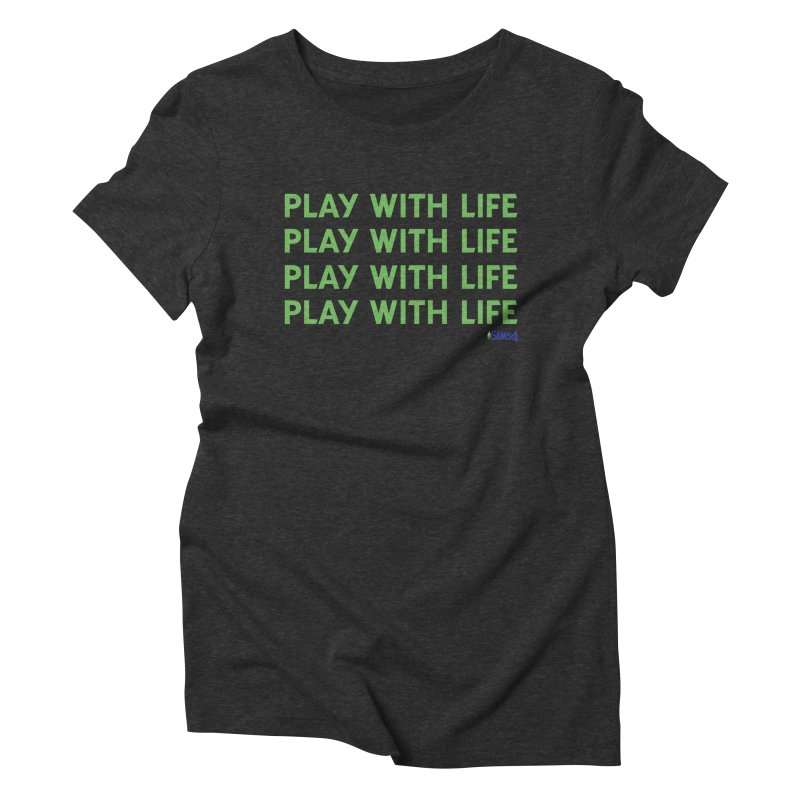 Play With Life Green Repeating in Green Women's Triblend T-Shirt by The Sims Official Threadless Store