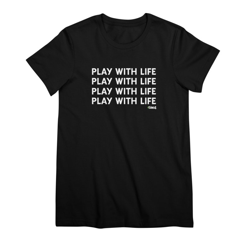 Play With Life Repeating in White Women's Premium T-Shirt by The Sims Official Threadless Store