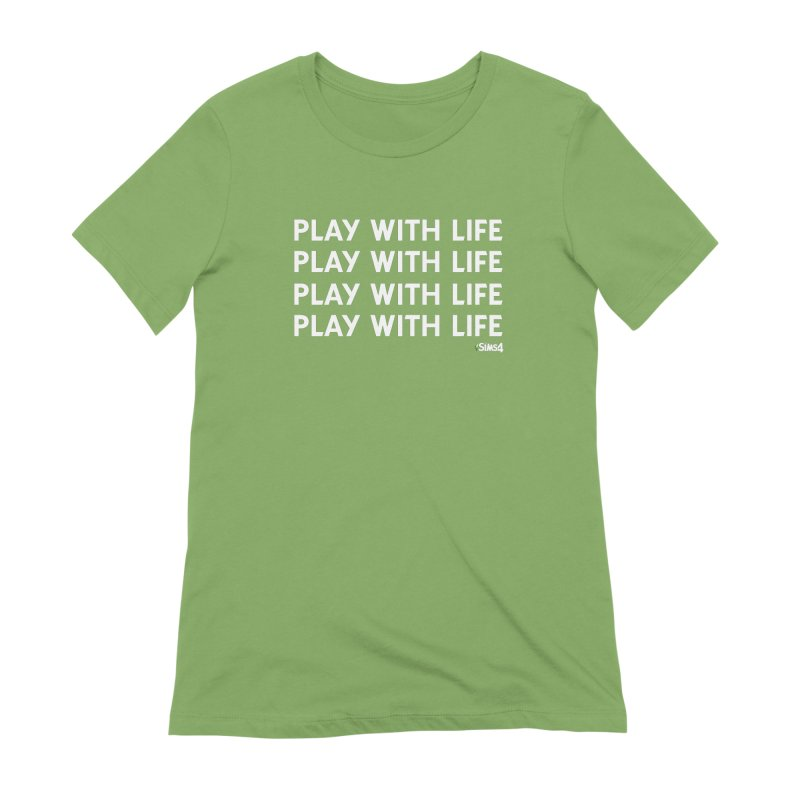Play With Life Repeating in White Women's Extra Soft T-Shirt by The Sims Official Threadless Store