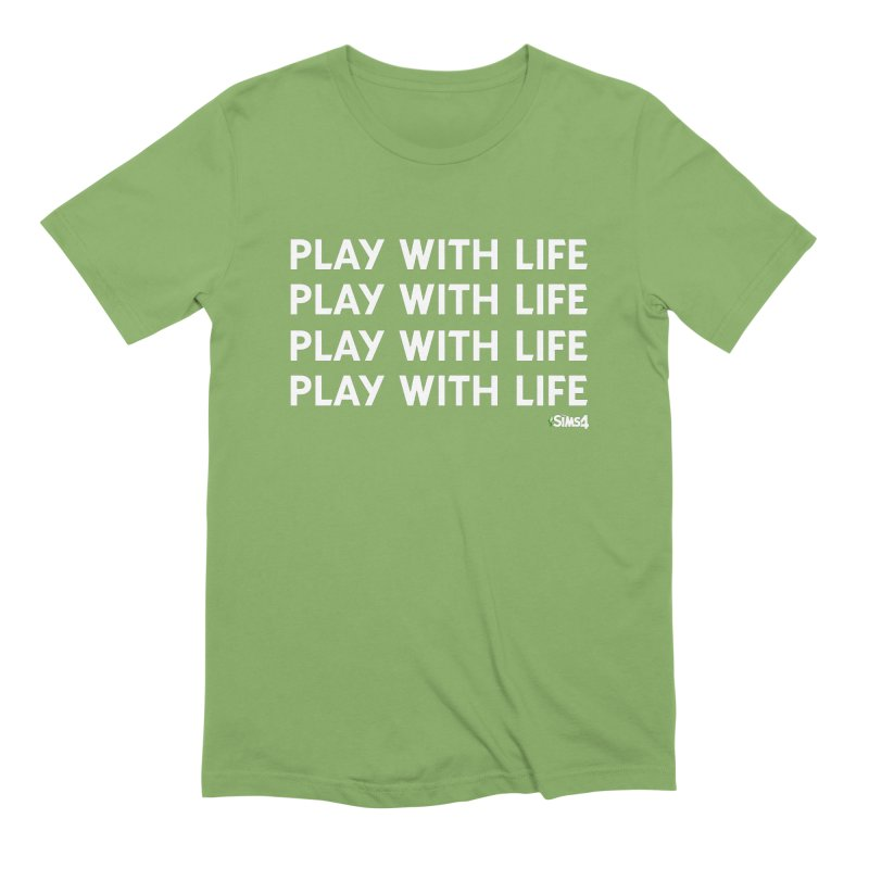 Play With Life Repeating in White Men's Extra Soft T-Shirt by The Sims Official Threadless Store
