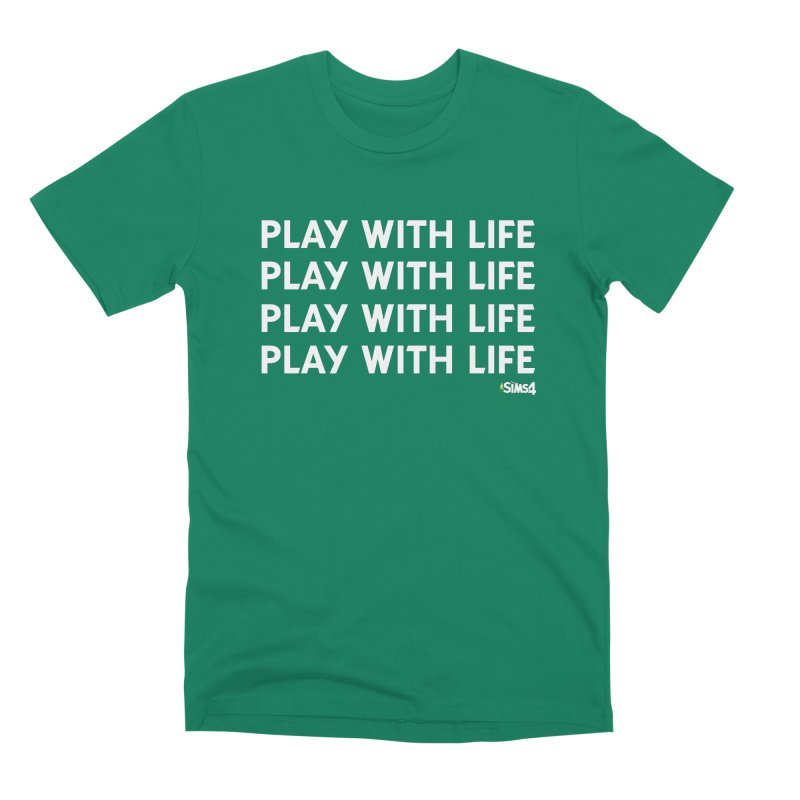 Play With Life Repeating in White Men's Premium T-Shirt by The Sims Official Threadless Store