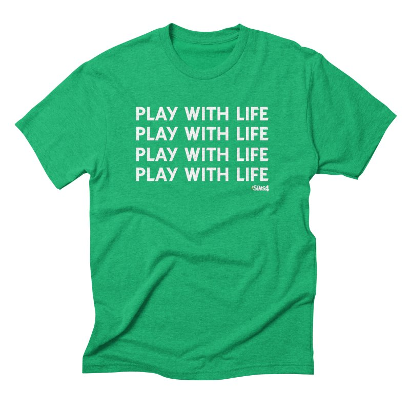 Play With Life Repeating in White Men's Triblend T-Shirt by The Sims Official Threadless Store
