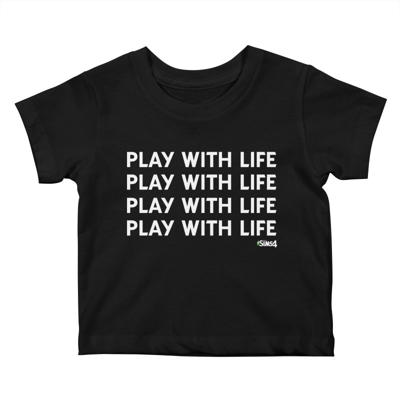 Play With Life Repeating in White Kids Baby T-Shirt by The Sims Official Threadless Store