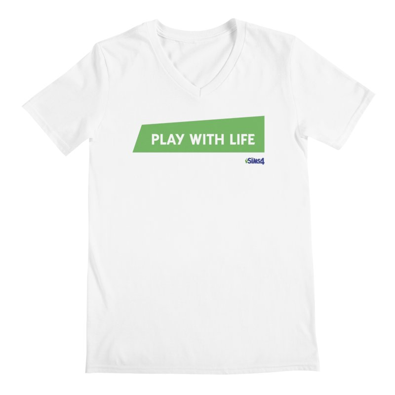 Play With Life Men's Regular V-Neck by The Sims Official Threadless Store
