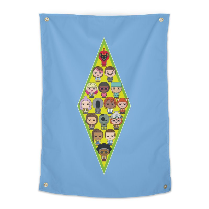 Plumbob People Home Tapestry by The Sims Official Threadless Store