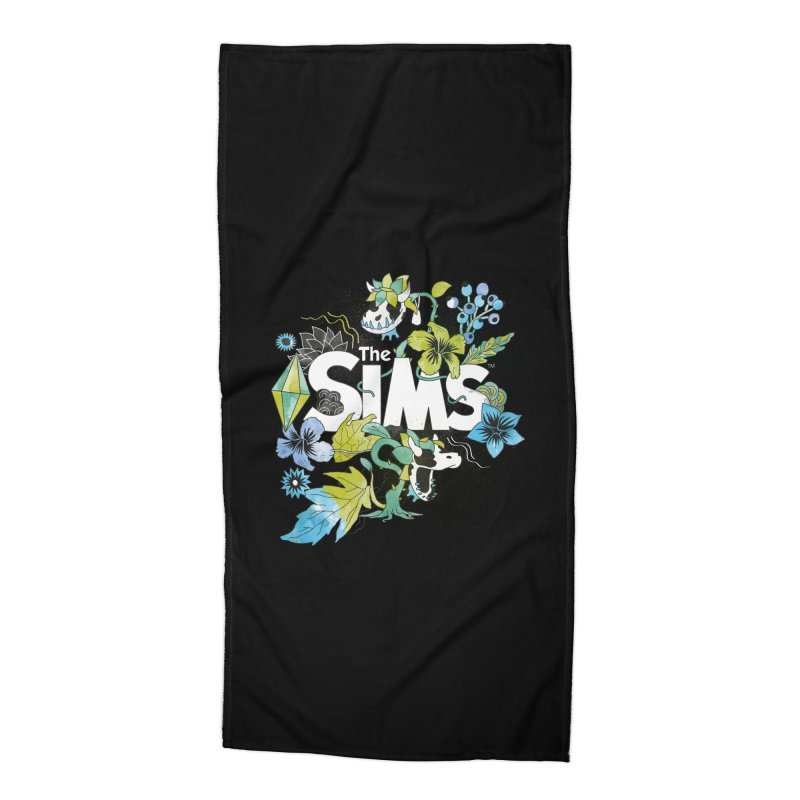 The Sims Garden - Blue Accessories Beach Towel by The Sims Official Threadless Store