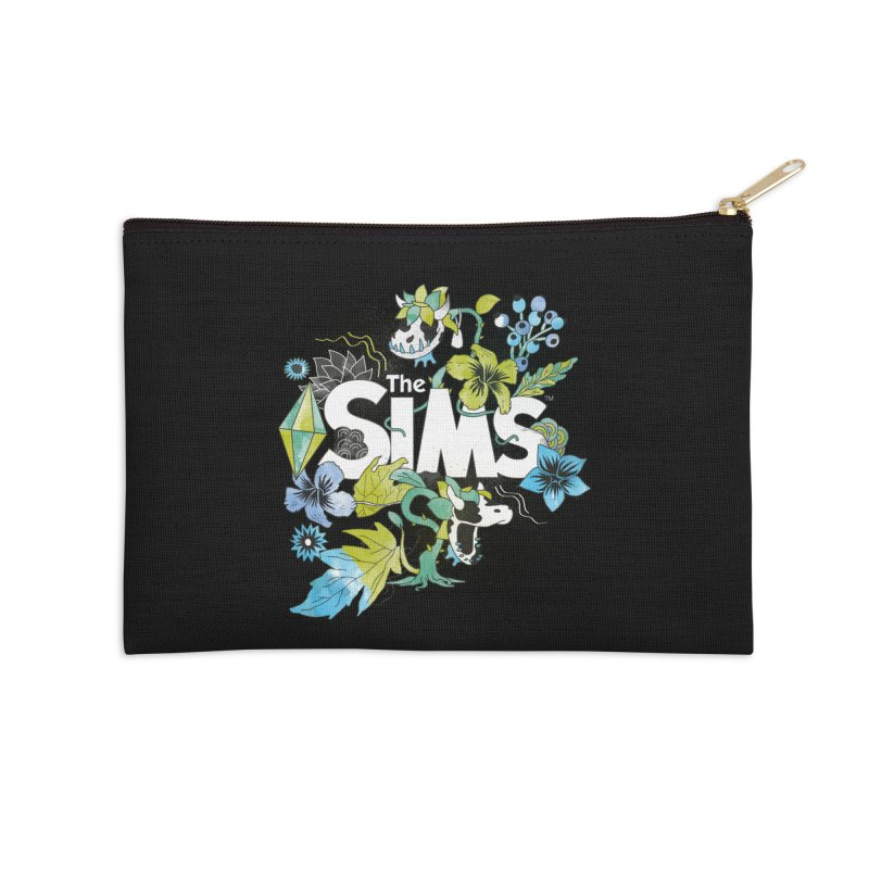 The Sims Garden - Blue Accessories Zip Pouch by The Sims Official Threadless Store