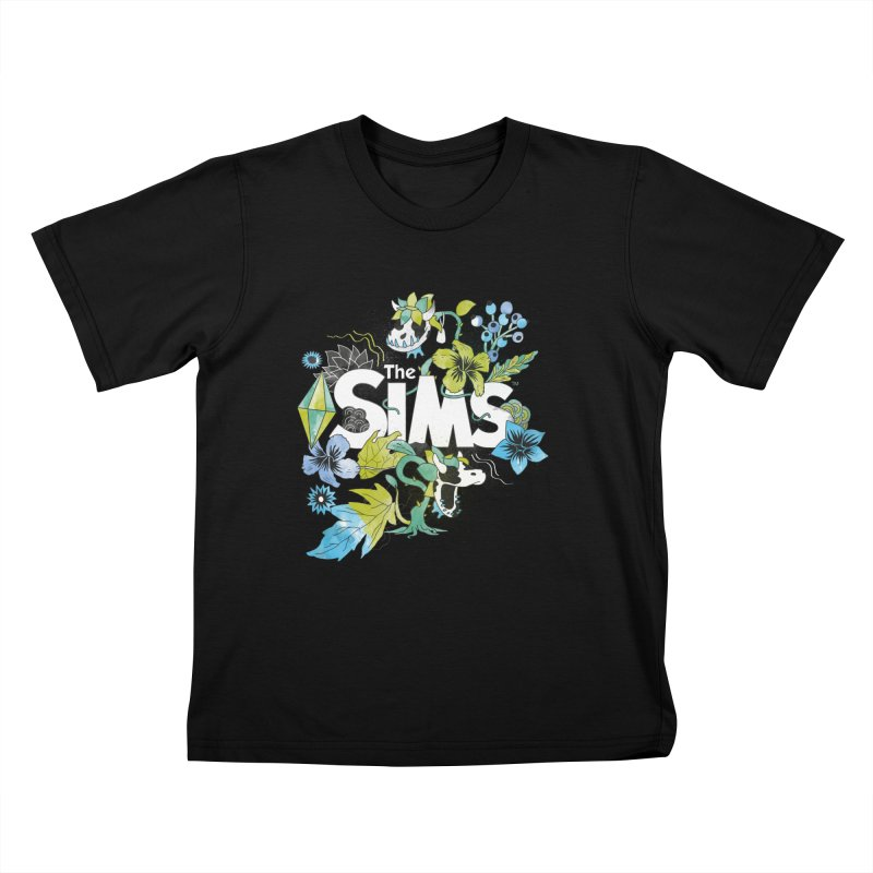 The Sims Garden - Blue Kids T-Shirt by The Sims Official Threadless Store