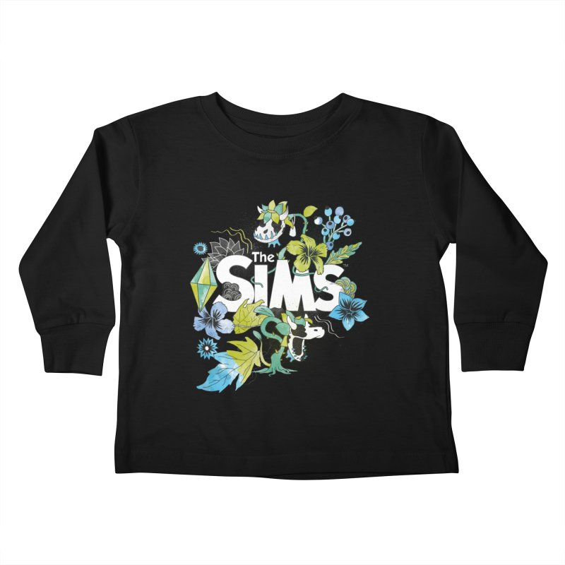 The Sims Garden - Blue Kids Toddler Longsleeve T-Shirt by The Sims Official Threadless Store