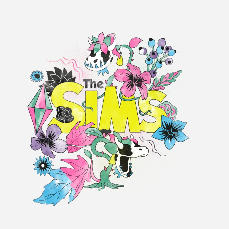 The Sims Garden - Yellow Men's Longsleeve T-Shirt by The Sims Official Threadless Store