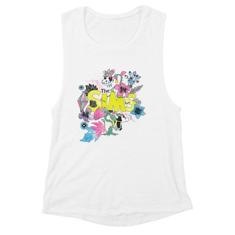 The Sims Garden - Yellow Women's Muscle Tank by The Sims Official Threadless Store