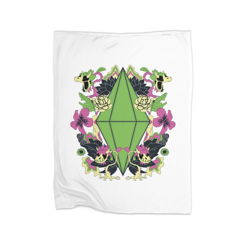 Floral Plumbob Home Blanket by The Sims Official Threadless Store