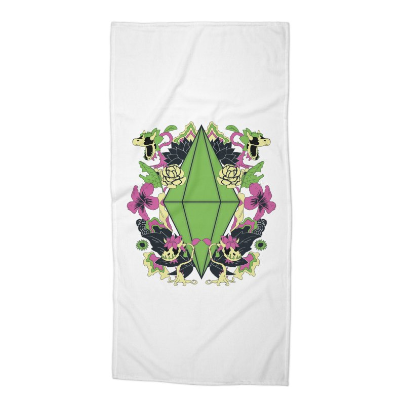 Floral Plumbob Accessories Beach Towel by The Sims Official Threadless Store