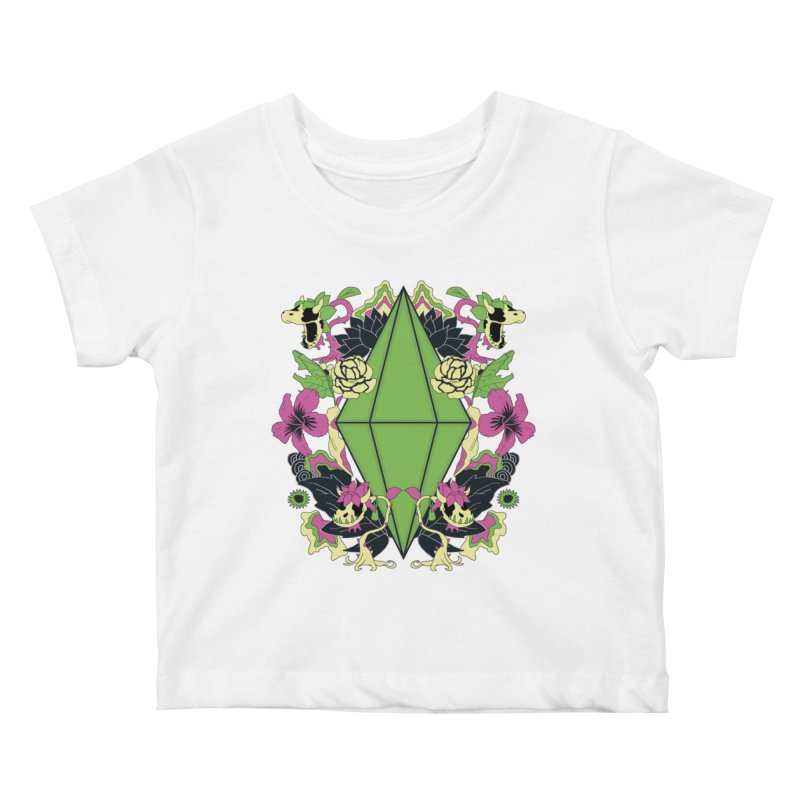 Floral Plumbob Kids Baby T-Shirt by The Sims Official Threadless Store