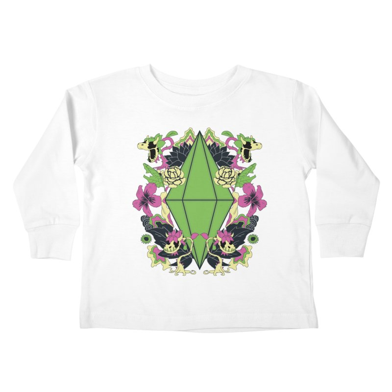 Floral Plumbob Kids Toddler Longsleeve T-Shirt by The Sims Official Threadless Store