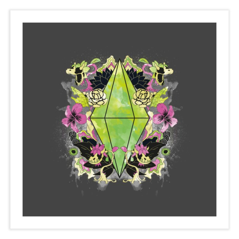 Floral Plumbob Home Fine Art Print by The Sims Official Threadless Store
