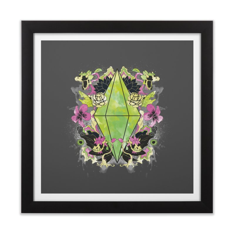 Floral Plumbob Home Framed Fine Art Print by The Sims Official Threadless Store