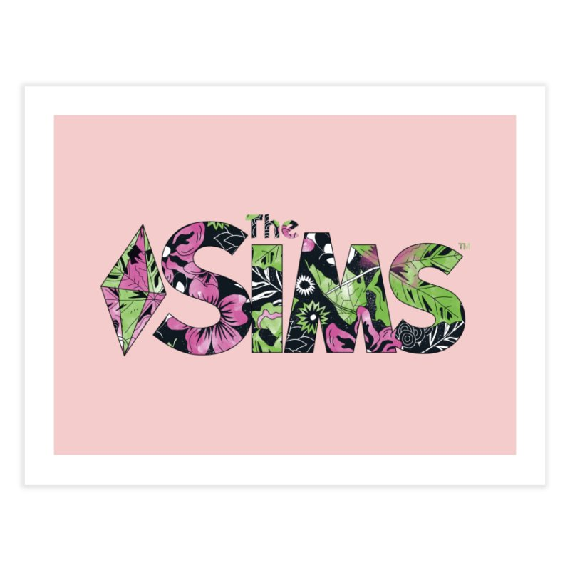 The Sims Florals Home Fine Art Print by The Sims Official Threadless Store