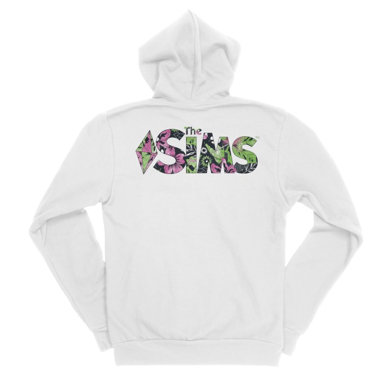 The Sims Florals Women's Sponge Fleece Zip-Up Hoody by The Sims Official Threadless Store