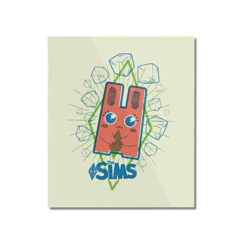 Freezer Bunny (on the Rocks) Home Mounted Acrylic Print by The Sims Official Threadless Store