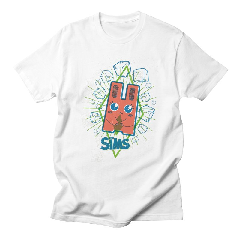 Freezer Bunny (on the Rocks) in Men's Regular T-Shirt White by The Sims Official Threadless Store