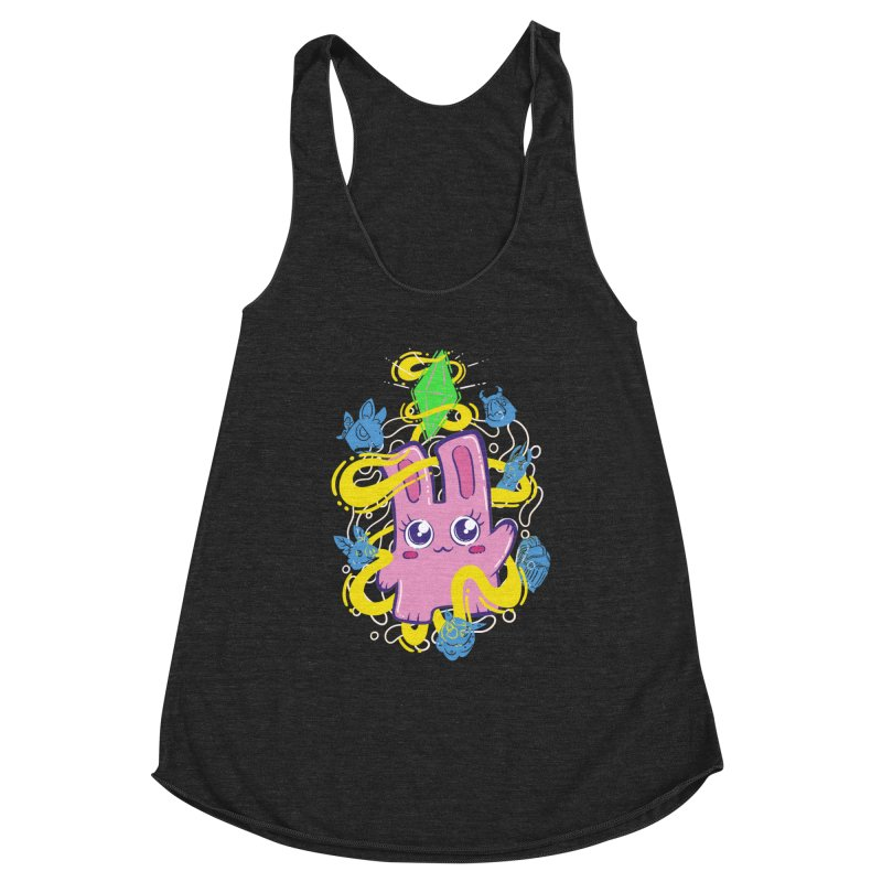Freezer Bunny & Friends Women's Racerback Triblend Tank by The Sims Official Threadless Store