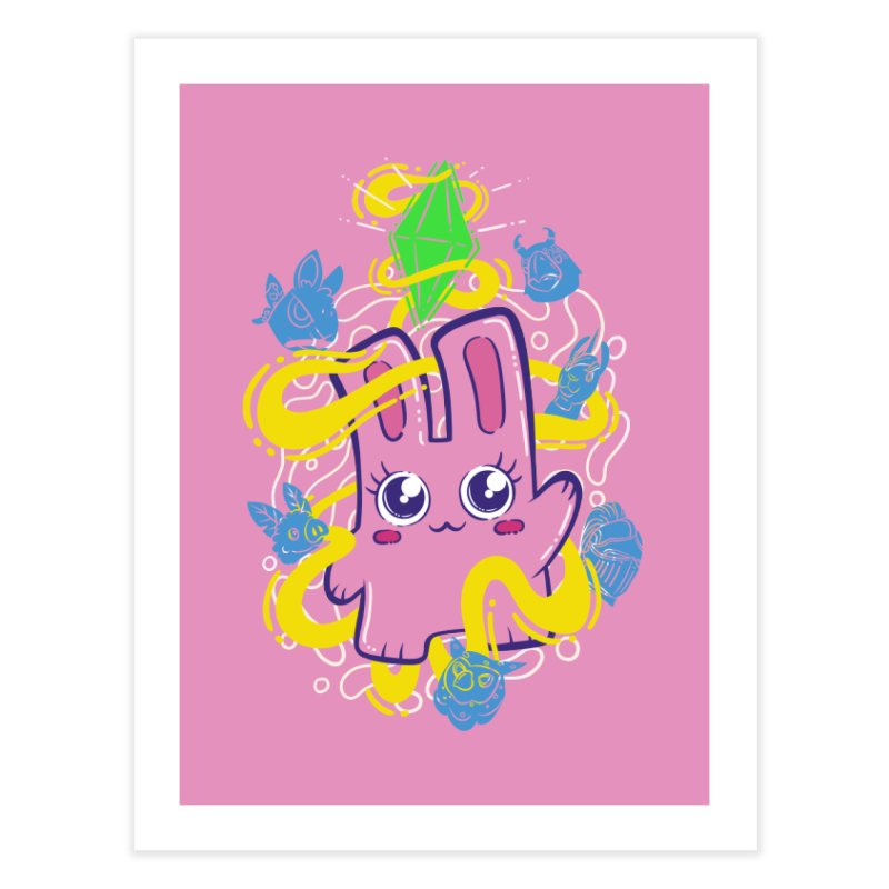 Freezer Bunny & Friends Home Fine Art Print by The Sims Official Threadless Store