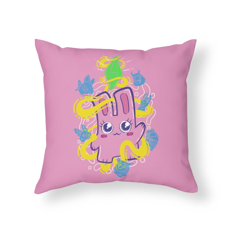 Freezer Bunny & Friends Home Throw Pillow by The Sims Official Threadless Store