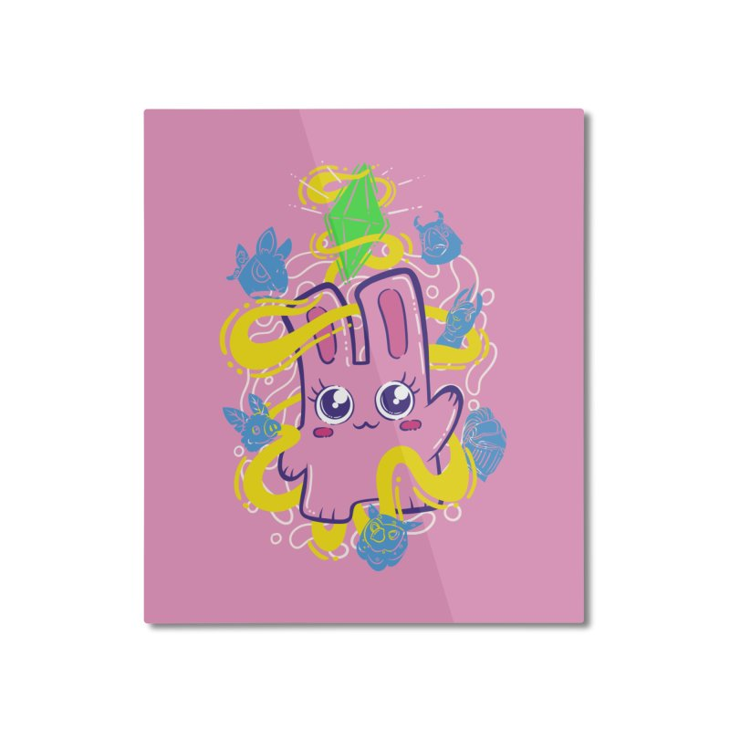 Freezer Bunny & Friends Home Mounted Aluminum Print by The Sims Official Threadless Store