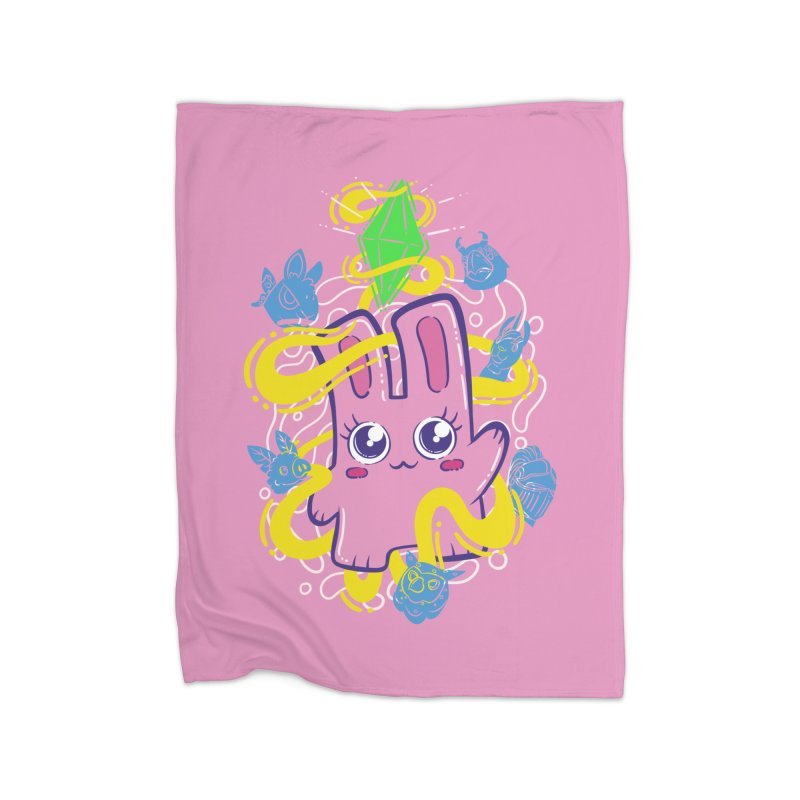 Freezer Bunny & Friends Home Fleece Blanket Blanket by The Sims Official Threadless Store