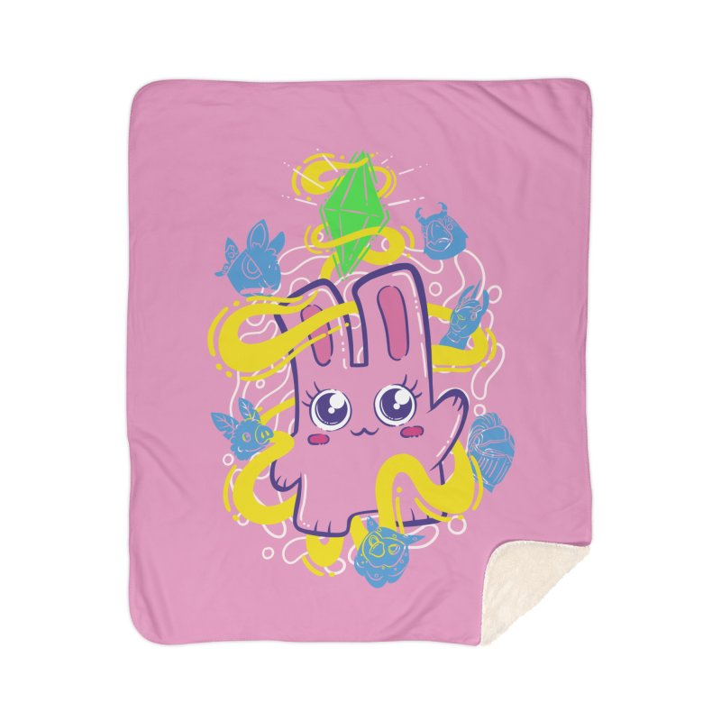 Freezer Bunny & Friends Home Sherpa Blanket Blanket by The Sims Official Threadless Store