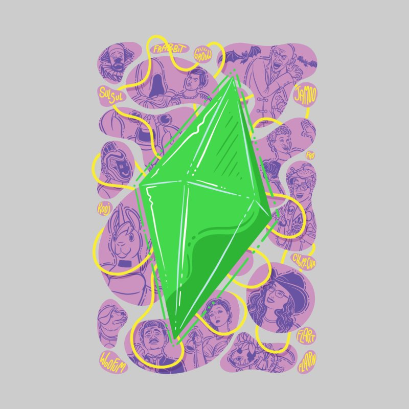 Funky Plumbob Accessories Sticker by The Sims Official Threadless Store