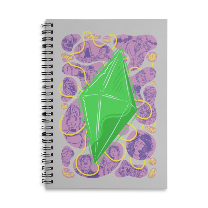 Funky Plumbob Accessories Lined Spiral Notebook by The Sims Official Threadless Store