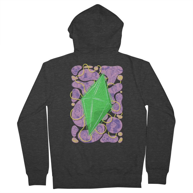 Funky Plumbob Men's French Terry Zip-Up Hoody by The Sims Official Threadless Store