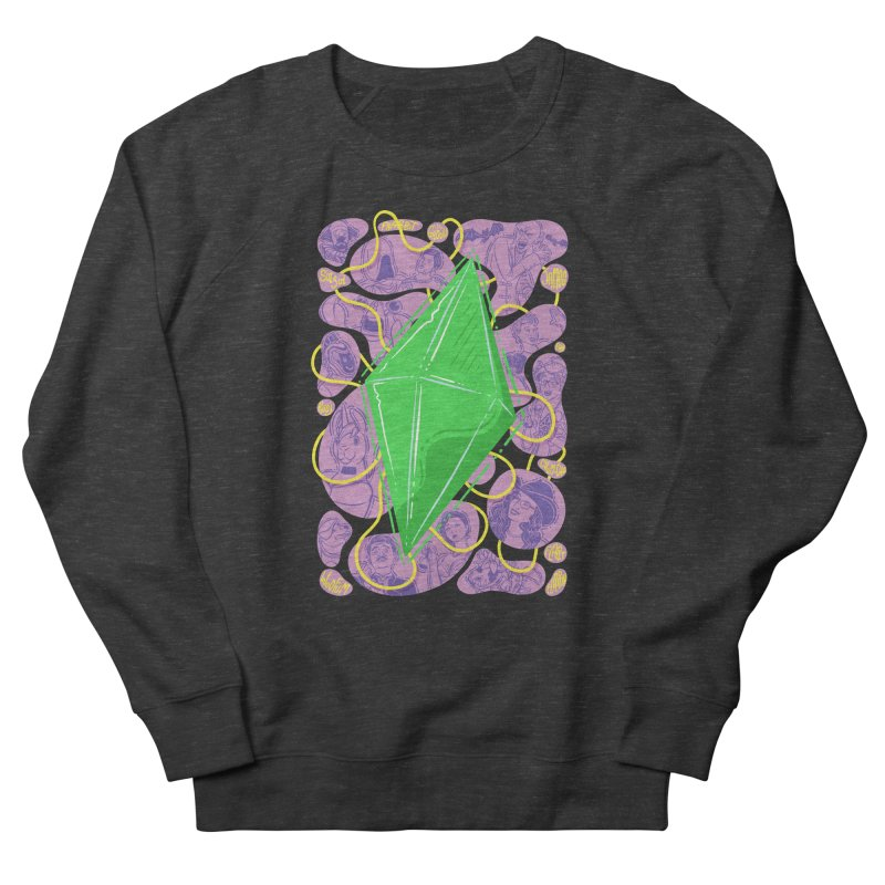 Funky Plumbob Women's French Terry Sweatshirt by The Sims Official Threadless Store