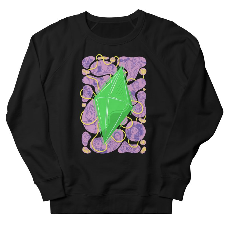 Funky Plumbob Men's French Terry Sweatshirt by The Sims Official Threadless Store