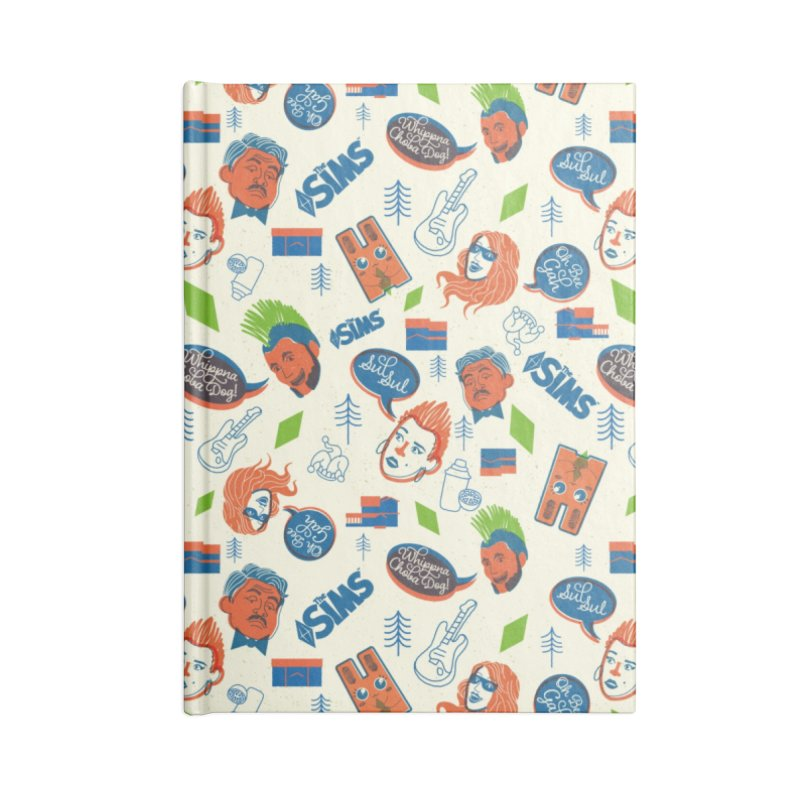 Simlish Level 1 Accessories Lined Journal Notebook by The Sims Official Threadless Store