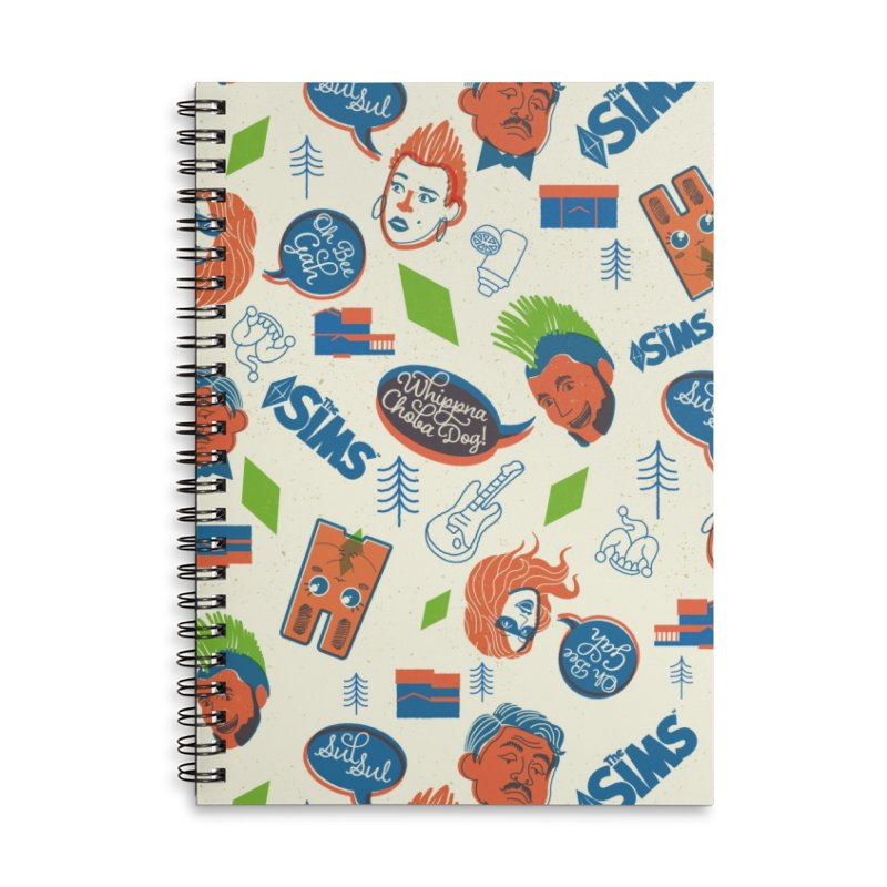 Simlish Level 1 Accessories Lined Spiral Notebook by The Sims Official Threadless Store